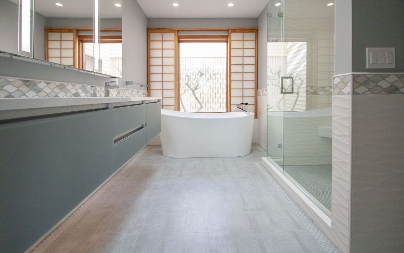 Cool & Modern Master Bath in Portland, Oregon