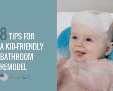 Blog title with baby in the bath