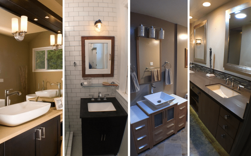 4 different bathroom sink styles in remodels